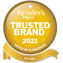 Reader's Digest: Trusted Brand 2021 - Voted By Canadians for Pet Food Category