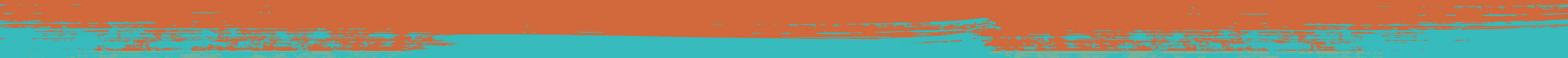 Beyond - Rough Divider Orange to Purina Teal