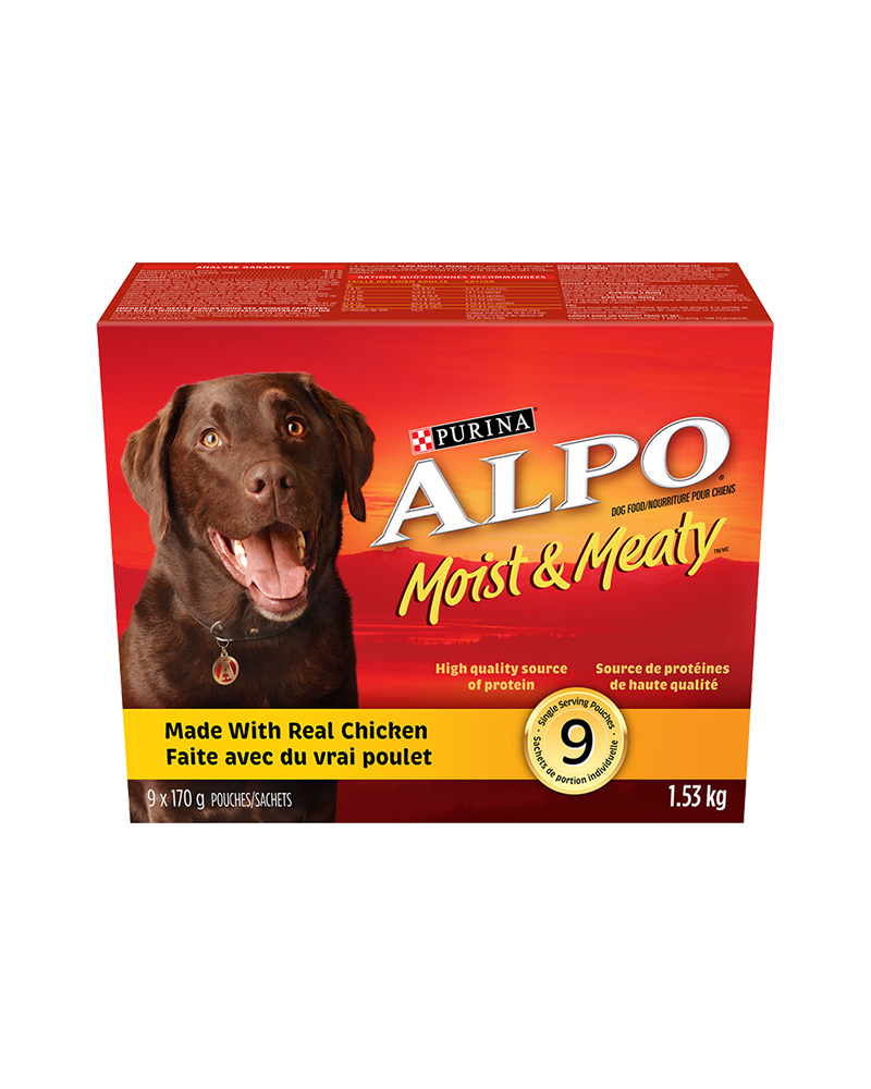 Alpo Moist & Meaty chicken semi-moist dog food