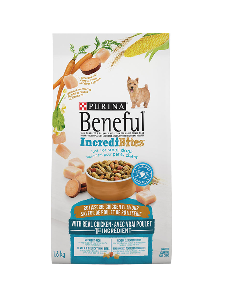 Beneful® IncrediBites® for Small Dogs Rotisserie Chicken Flavour Dry Dog  Food