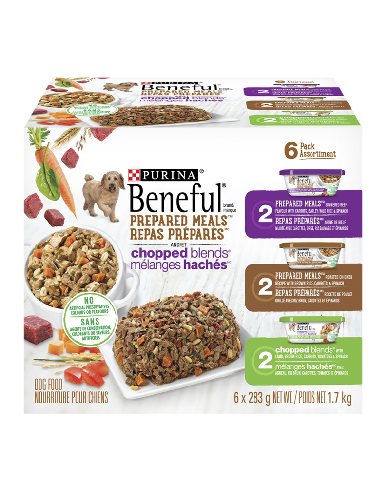 Beneful Prepared Meals and Chopped Blends wet dog food variety pack