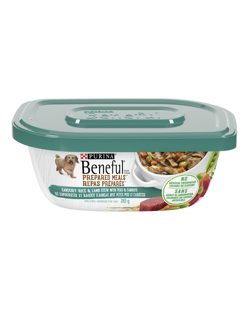 Beneful Prepared Meals savoury rice and lamb stew wet dog food