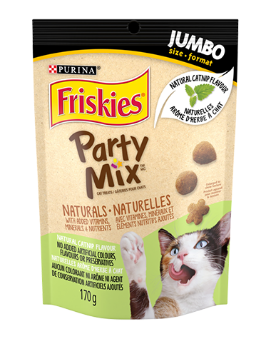 Friskies® Party Mix™ Naturals Catnip Flavour Cat Treats