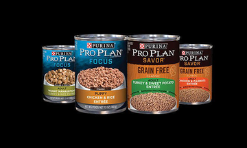 Pro Plan wet dog food products