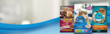 Friskies, Cat Chow and Purina ONE dry cat food