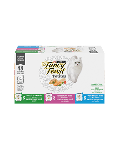 Fancy Feast Petites in Gravy Collection Wet Cat Food Variety Pack