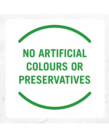 No artificial colours or preservatives