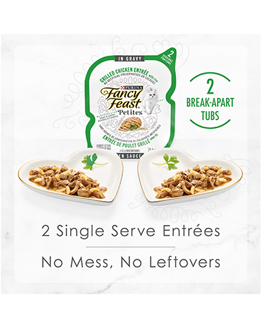 2 single serve entrees. No mess, no leftovers